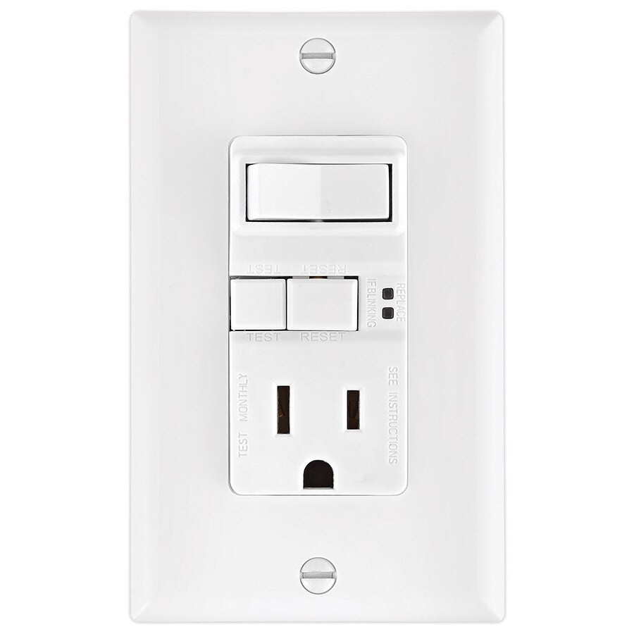 medium resolution of eaton white 15 amp decorator gfci residential outlet switch at lowes com cooper wiring devices 15 amp light switch and gfci single outlet