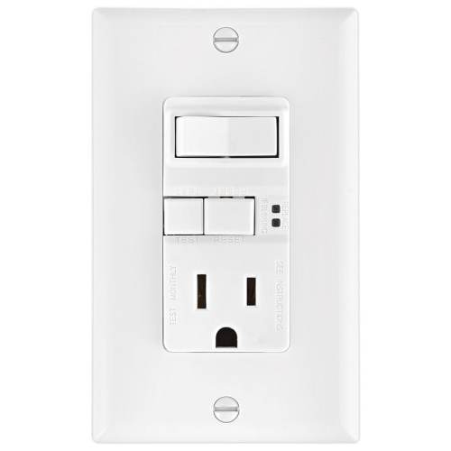 small resolution of eaton white 15 amp decorator gfci residential outlet switch at lowes com cooper wiring devices 15 amp light switch and gfci single outlet