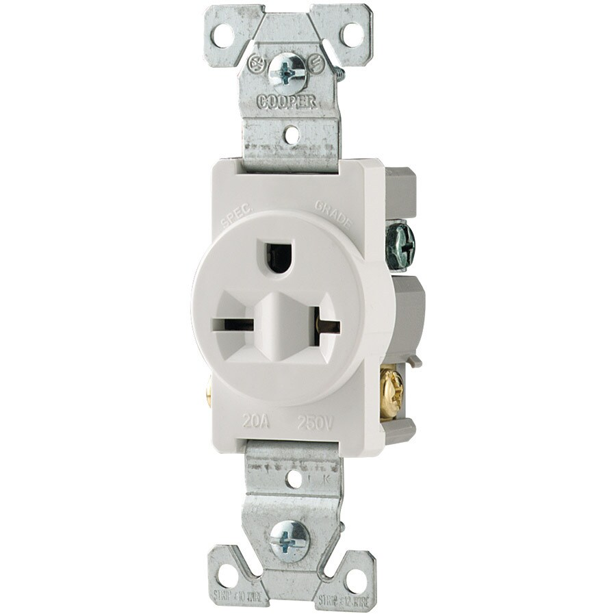 hight resolution of eaton white 20 amp round outlet commercial
