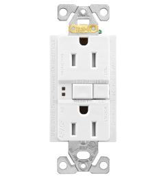 eaton white 15 amp decorator tamper resistant gfci afci residential outlet [ 900 x 900 Pixel ]