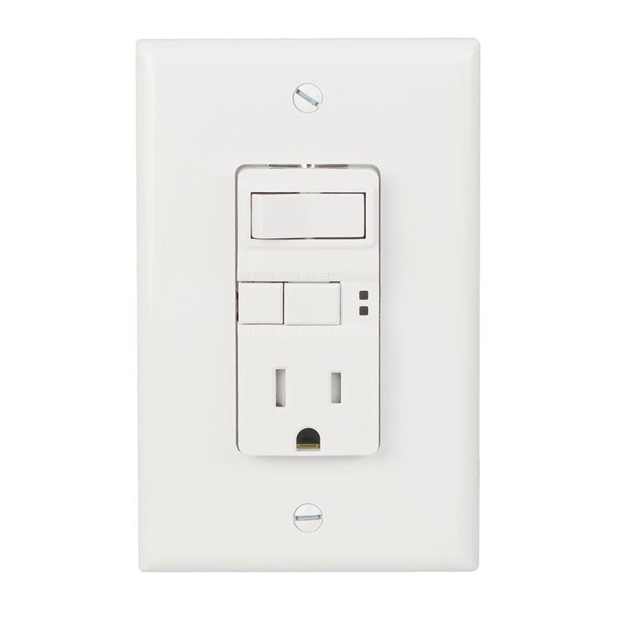 medium resolution of eaton white 15 amp decorator tamper resistant gfci residential cooper wiring devices 15 amp light switch and gfci single outlet