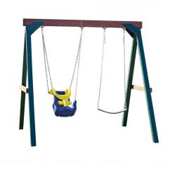 Swing Seat Kit Unusual Chairs For Living Room N Slide Adaptive Set Residential Wood Playset With Swings