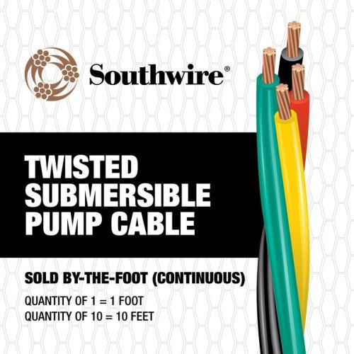 small resolution of southwire 12 3 twisted submersible pump cable by the foot