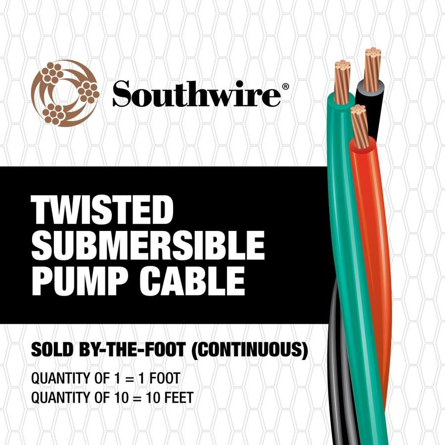 hight resolution of southwire 10 2 twisted submersible pump cable by the foot