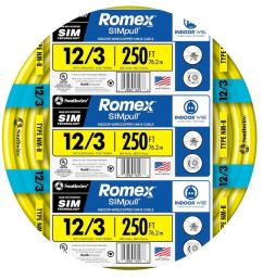 southwire 63947655 romex simpull 250 ft 12 3 non metallic wire by  [ 900 x 900 Pixel ]
