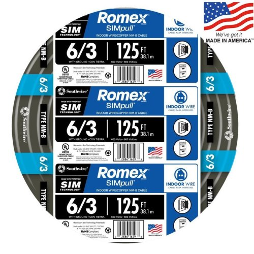 small resolution of southwire romex simpull 125 ft 6 3 non metallic wire by the roll