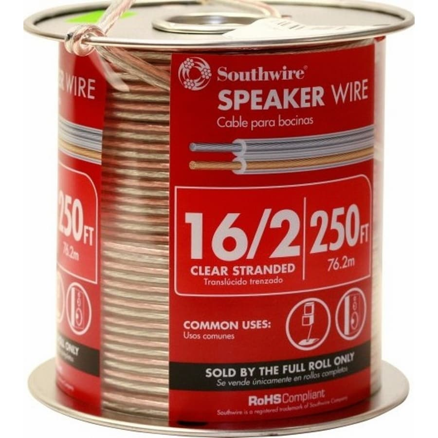 medium resolution of 250 ft 16 awg to 2 standard speaker wire by the roll