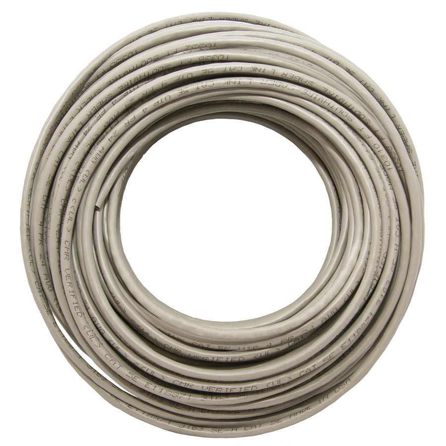 hight resolution of southwire 100 ft 24 awg 4 cat 5e riser gray data cable coil