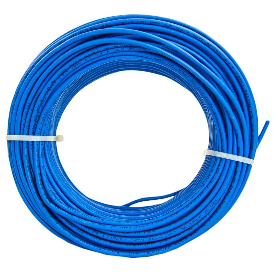 medium resolution of southwire 250 ft 24 4 cat 5e plenum blue data cable
