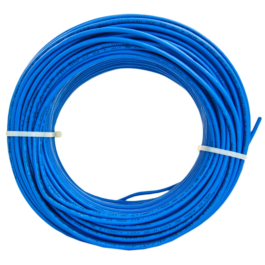 hight resolution of southwire 250 ft 24 4 cat 5e plenum blue data cable