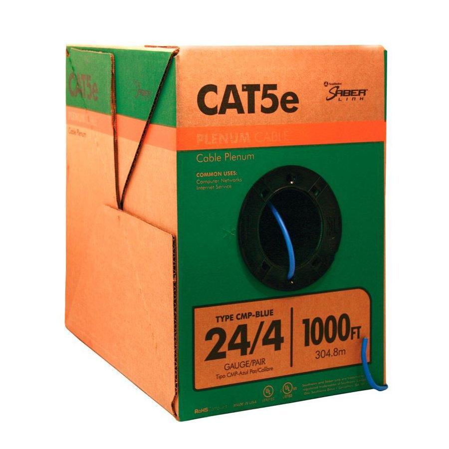 hight resolution of southwire 1 000 ft 24 4 cat 5e plenum blue data cable
