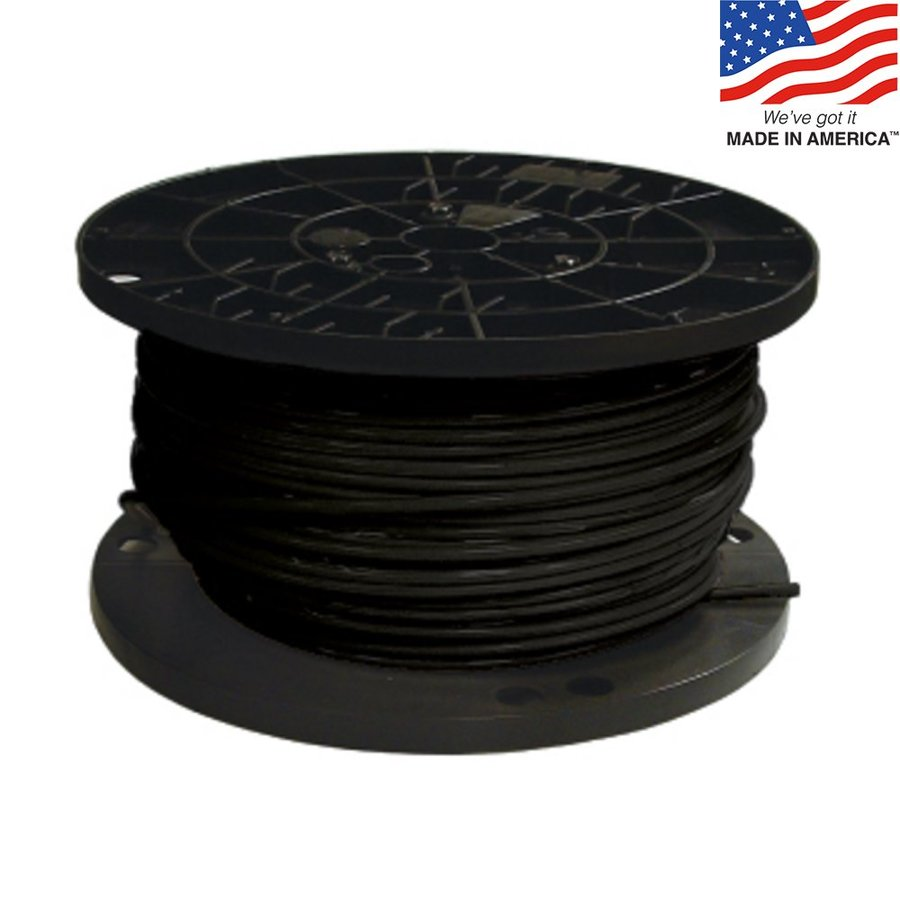 medium resolution of southwire 500 ft 8 awg stranded black copper thhn wire by the
