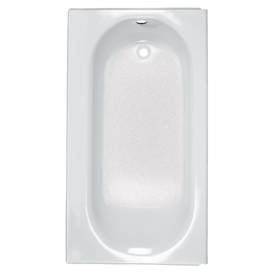 Shop American Standard Princeton 60 In White Porcelain Enameled Steel Alcove Bathtub With Right