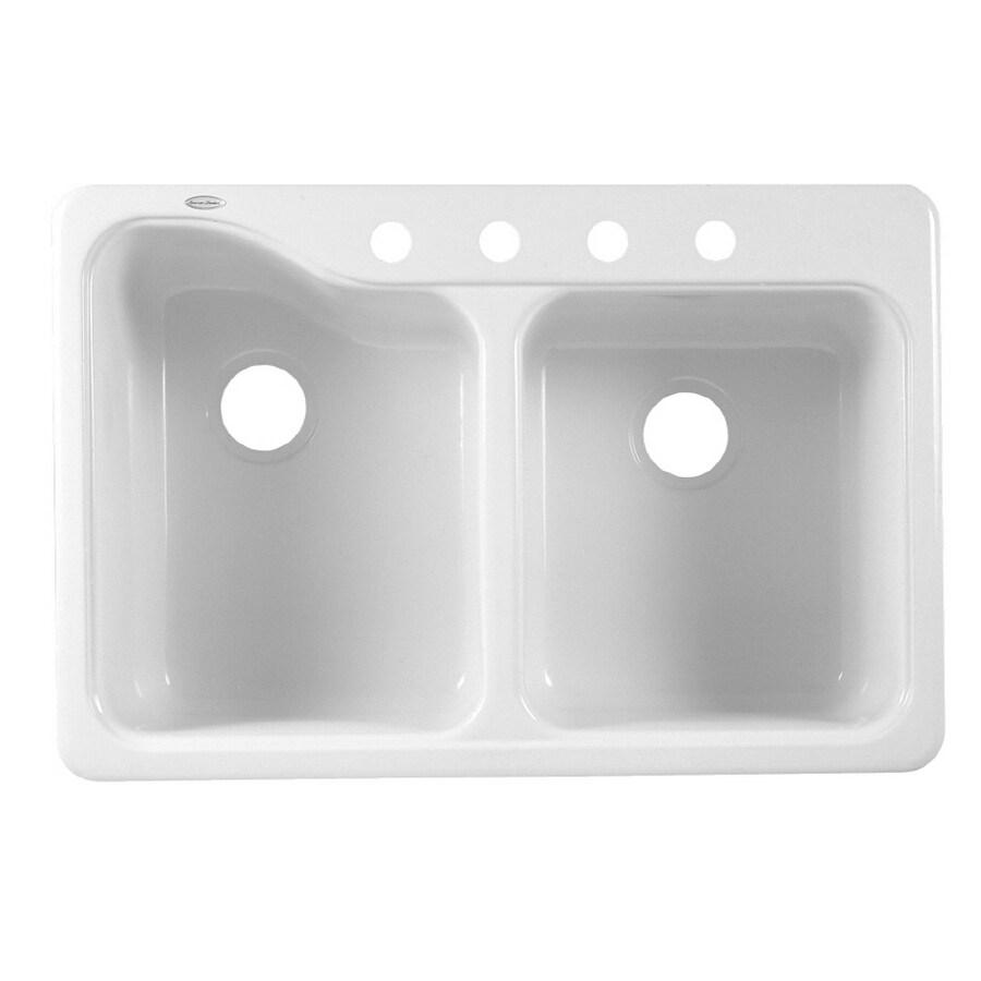 double basin porcelain kitchen sink