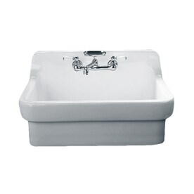 white porcelain kitchen sink gel mat sinks at lowes com american standard country 30 in x 22 single basin