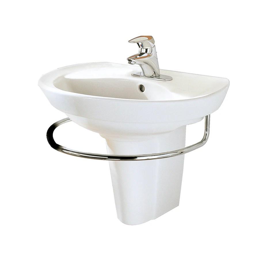 American Standard White WallMount Rectangular Bathroom