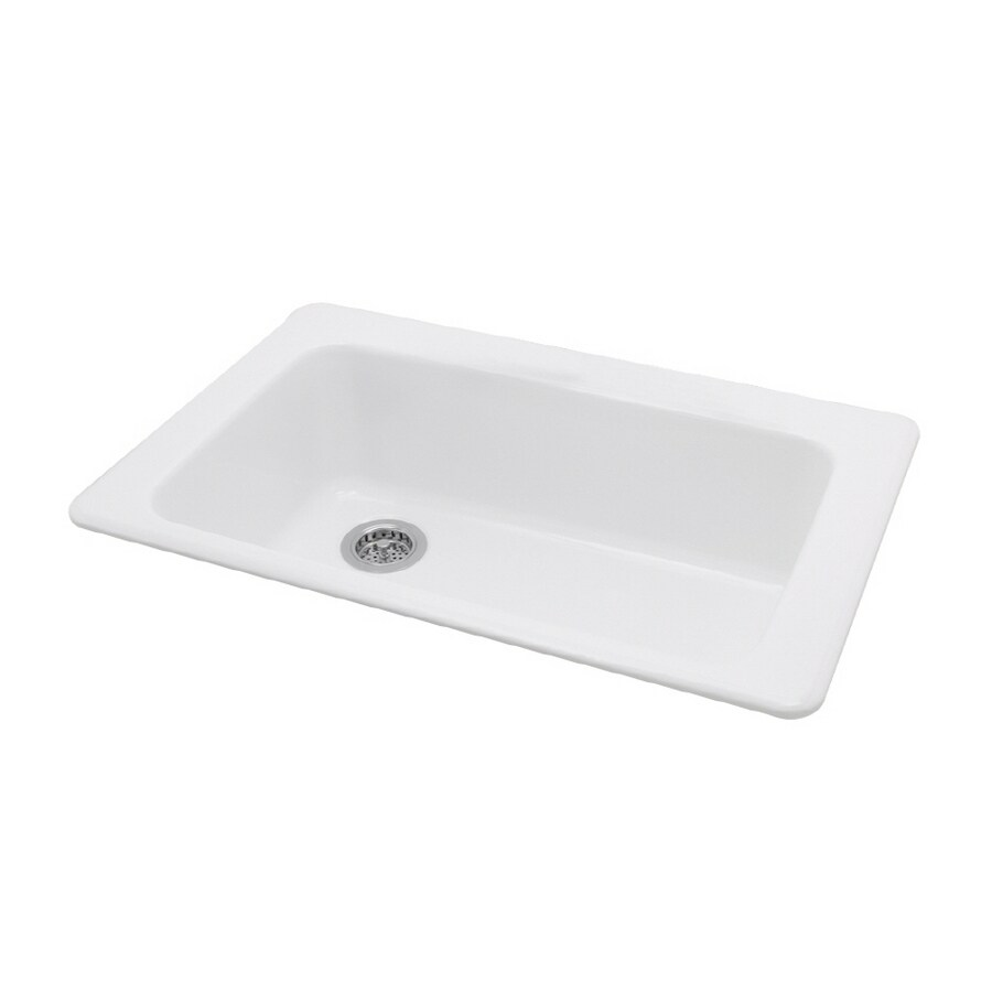 white porcelain kitchen sink best mats american standard heat single basin at