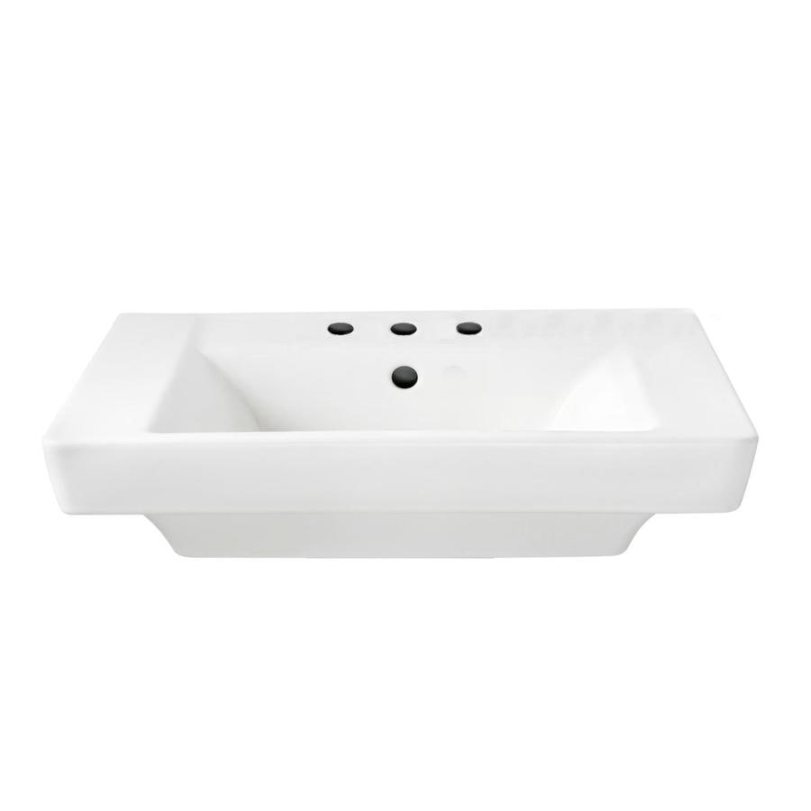 american standard boulevard 19 in l x 24 in w white vitreous china rectangular pedestal sink top lowes com