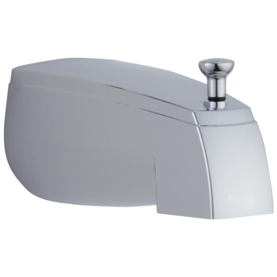 lowes delta kitchen faucets mid level cabinets shop chrome tub spout with diverter at lowes.com