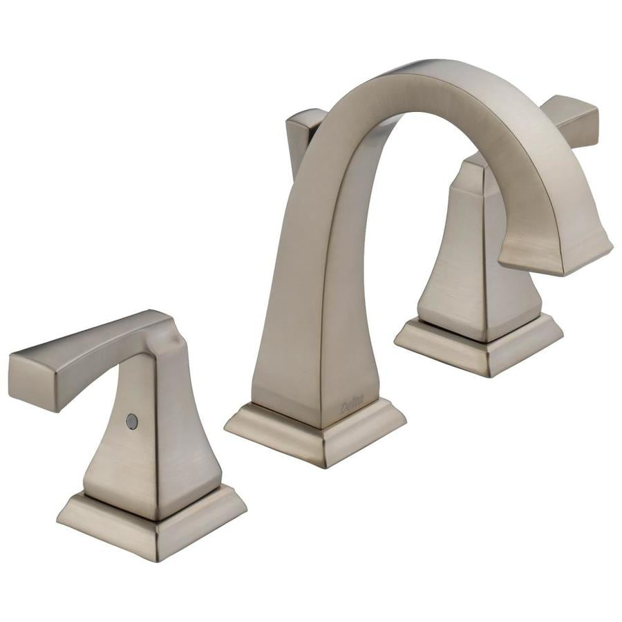 Delta Dryden Stainless 2Handle Widespread WaterSense Bathroom Sink Faucet with Drain at Lowescom