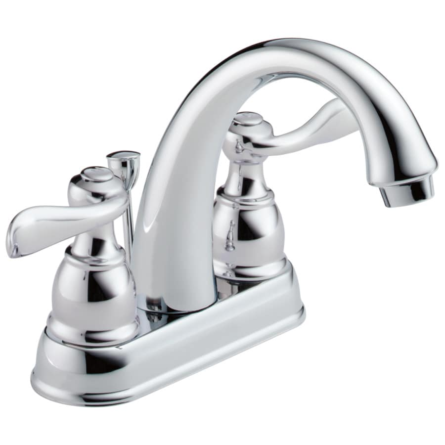 Delta Windemere Chrome 2Handle 4in Centerset WaterSense Bathroom Sink Faucet with Drain at