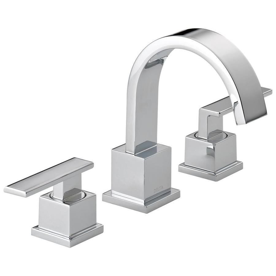 Delta Vero Chrome 2handle Widespread WaterSense Bathroom Sink Faucet with Drain at Lowescom