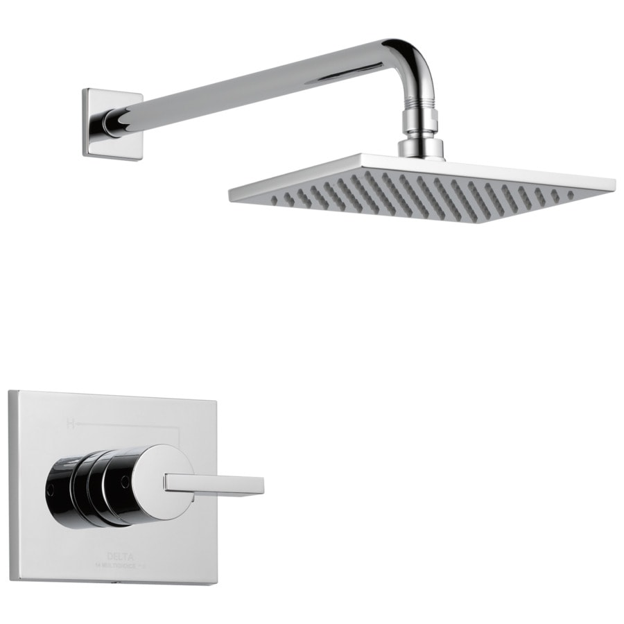 delta vero chrome 1 handle shower faucet in the shower faucets department at lowes com