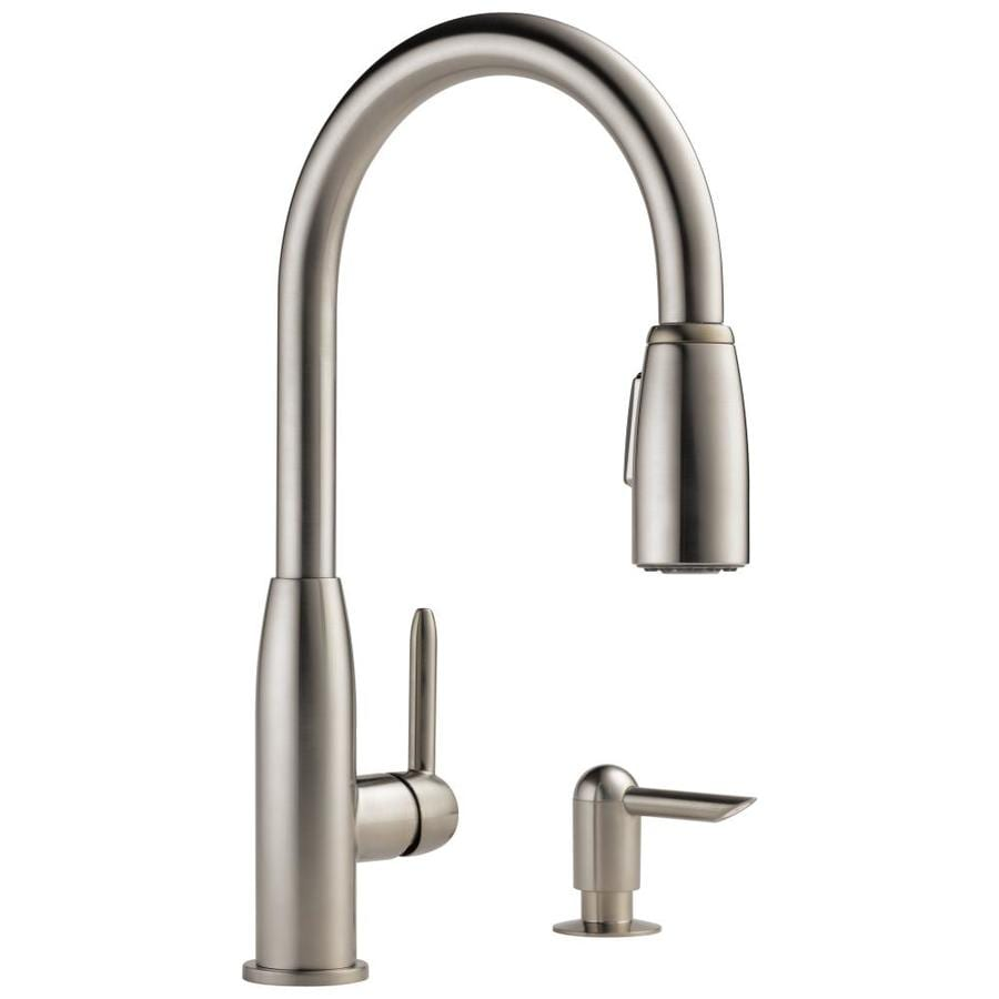 pull out kitchen faucets drawer peerless stainless 1 handle deck mount down faucet at