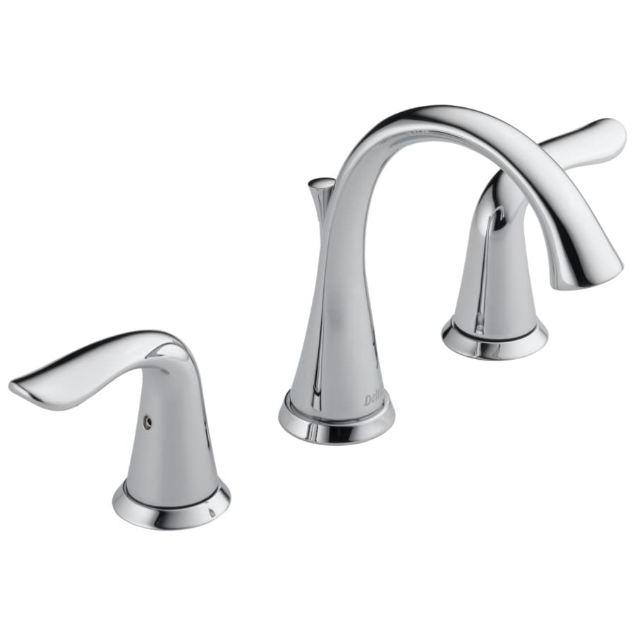 Delta Lahara Chrome 2Handle Widespread WaterSense Bathroom Sink Faucet with Drain at Lowescom
