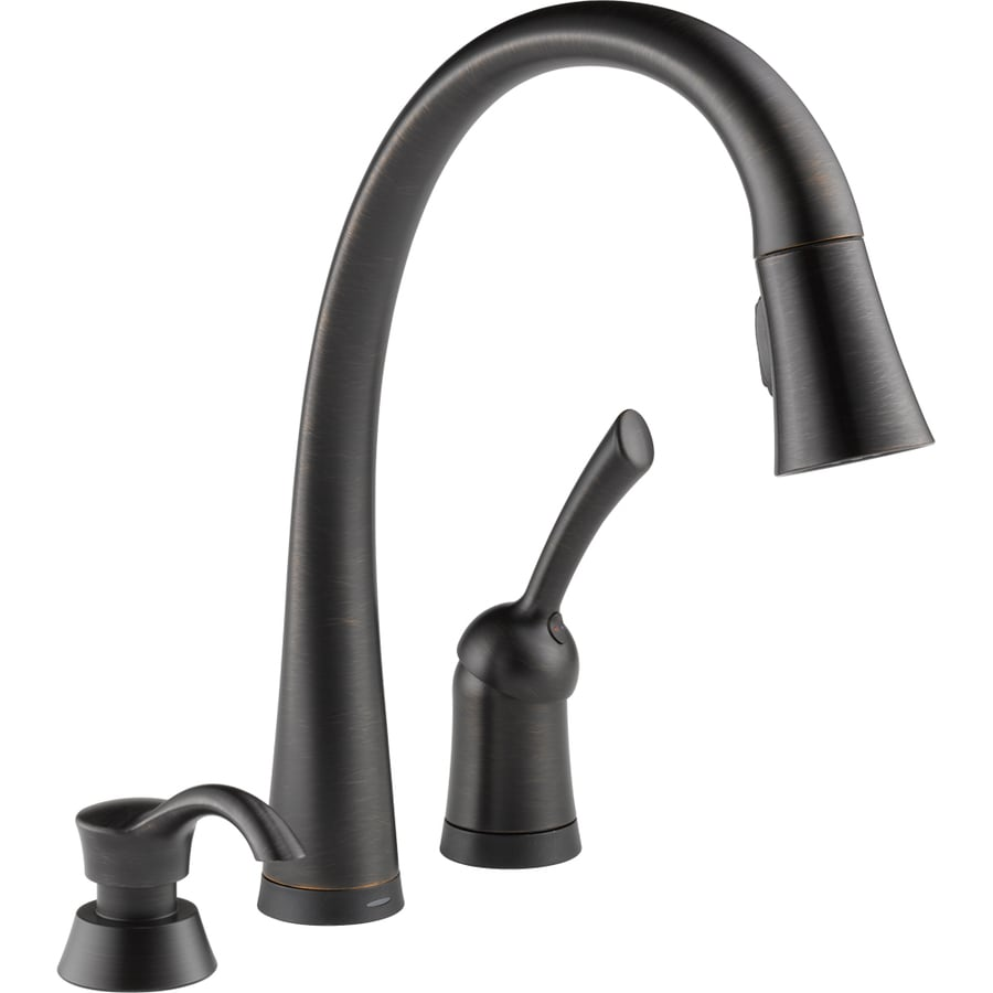 touch kitchen faucet reviews ikea rug shop delta pilar touch2o venetian bronze 1-handle deck ...