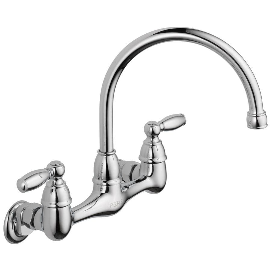 kitchen wall faucets cheap knobs peerless chrome 2 handle mount high arc faucet at lowes com