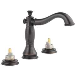 Lowes Delta Kitchen Faucets Sink Clogged Shop Cassidy Venetian Bronze 2-handle Widespread ...