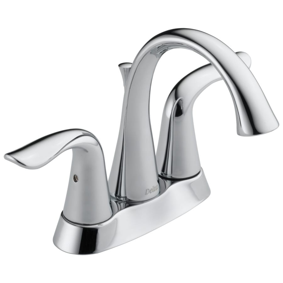 Shop Delta Lahara Chrome 2Handle 4in Centerset WaterSense Bathroom Faucet Drain Included at