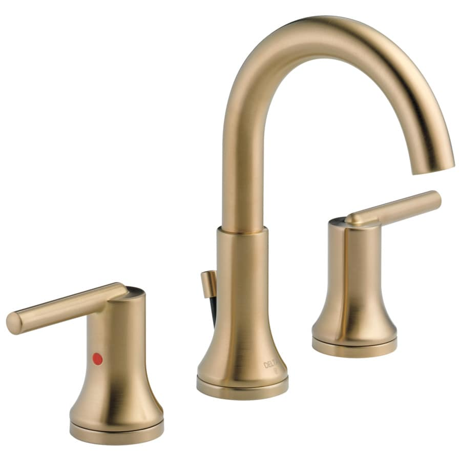 Delta Trinsic Champagne Bronze 2Handle Widespread WaterSense Bathroom Sink Faucet with Drain at