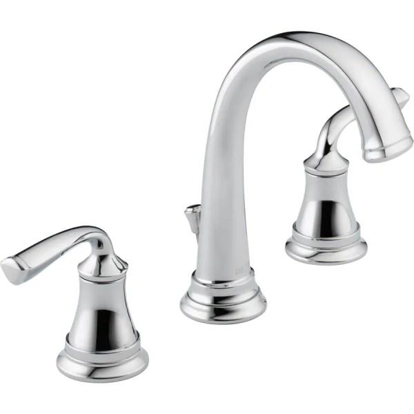 delta bathroom faucets chrome Delta Lorain Chrome 2-Handle Widespread WaterSense