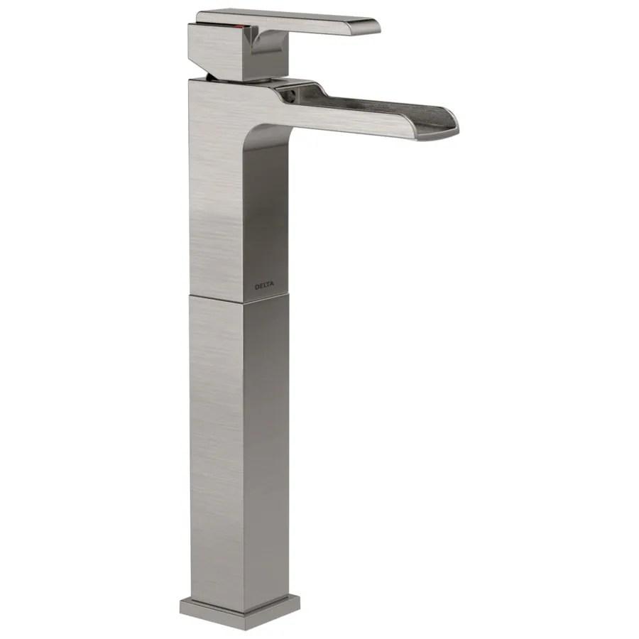 delta ara stainless 1 handle vessel watersense bathroom sink faucet