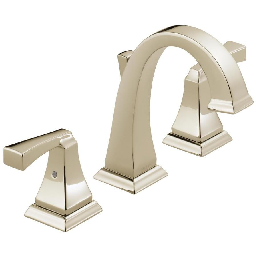 Delta Dryden Polished Nickel 2Handle Widespread WaterSense Bathroom Sink Faucet with Drain at