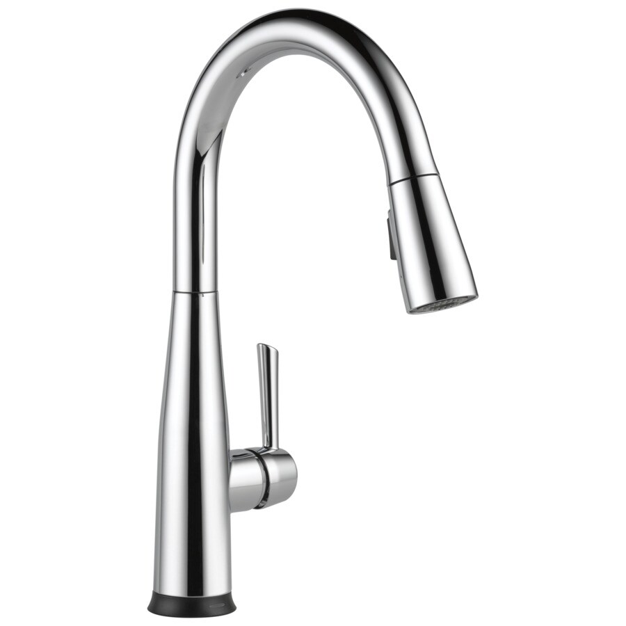 delta essa touch2o chrome 1 handle deck mount pull down touch kitchen faucet deck plate included