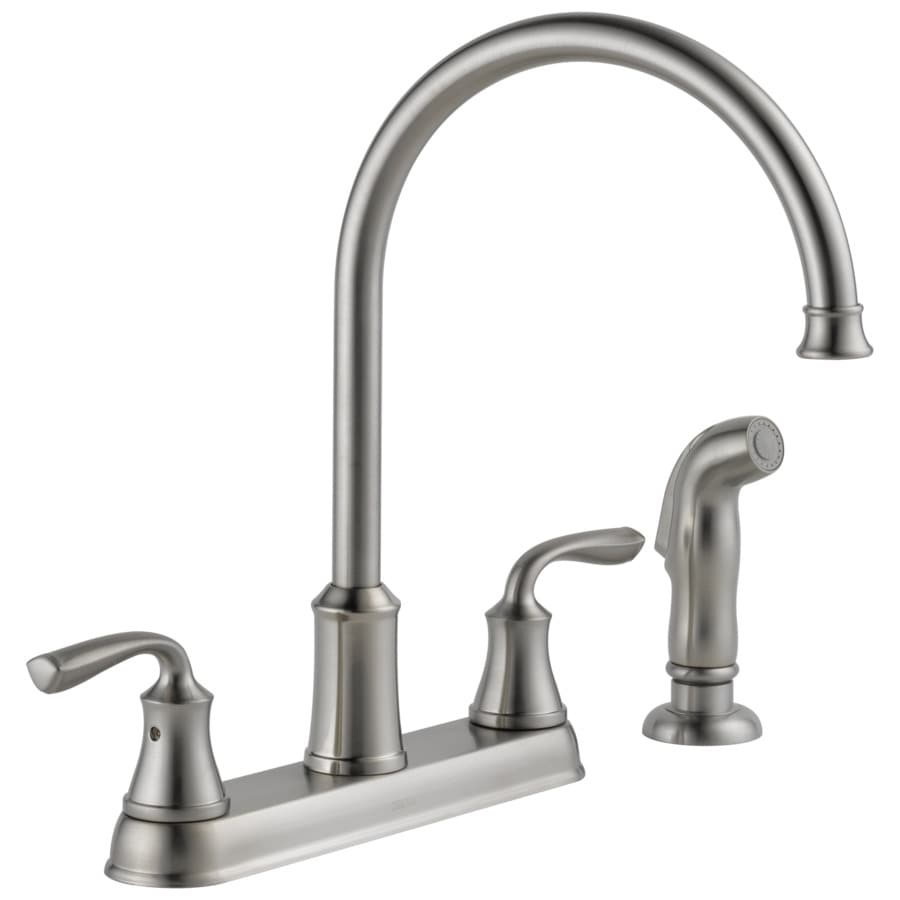 high flow rate kitchen faucets wine decorations for shop delta lorain stainless 2-handle deck mount high-arc ...