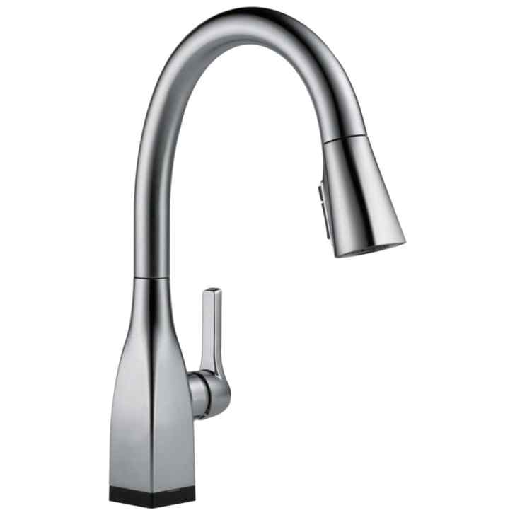 Mateo Touch2o Arctic Stainless Handle Pull Down Touch Kitchen Faucet