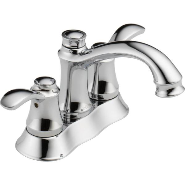 delta bathroom faucets chrome Delta Nura Chrome 2-Handle 4-in Centerset WaterSense