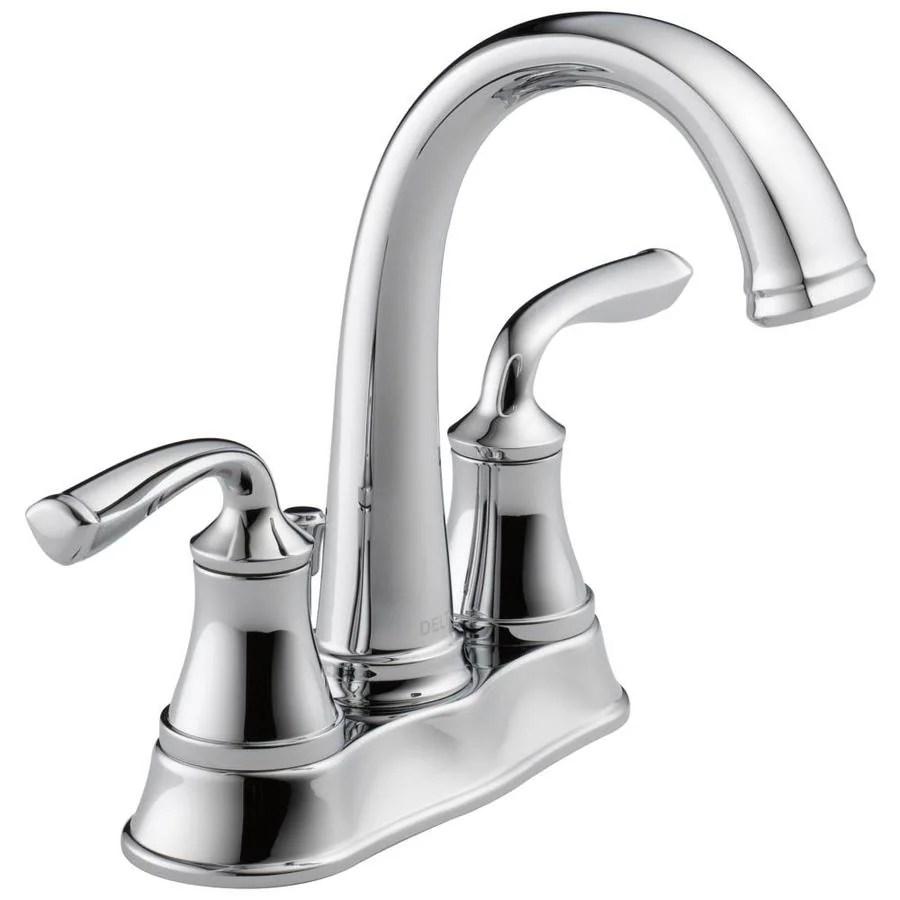 Shop Delta Lorain Chrome 2handle 4in Centerset Bathroom
