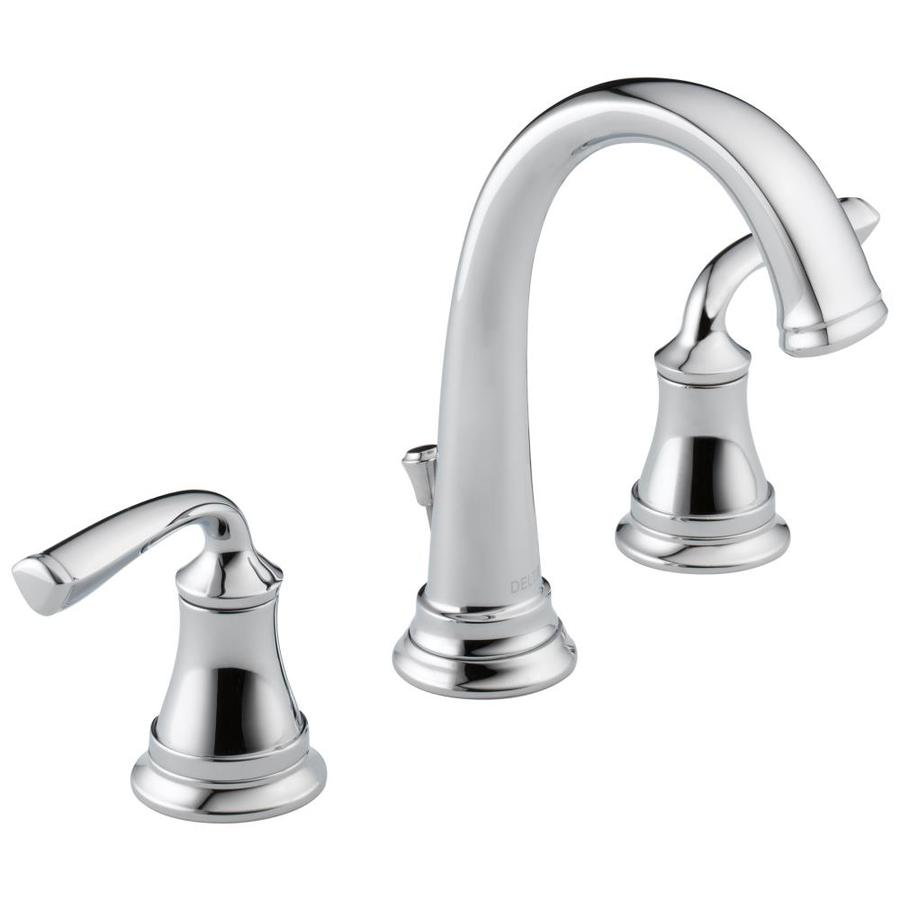 Delta Lorain Chrome 2handle Widespread WaterSense Bathroom Sink Faucet with Drain at Lowescom