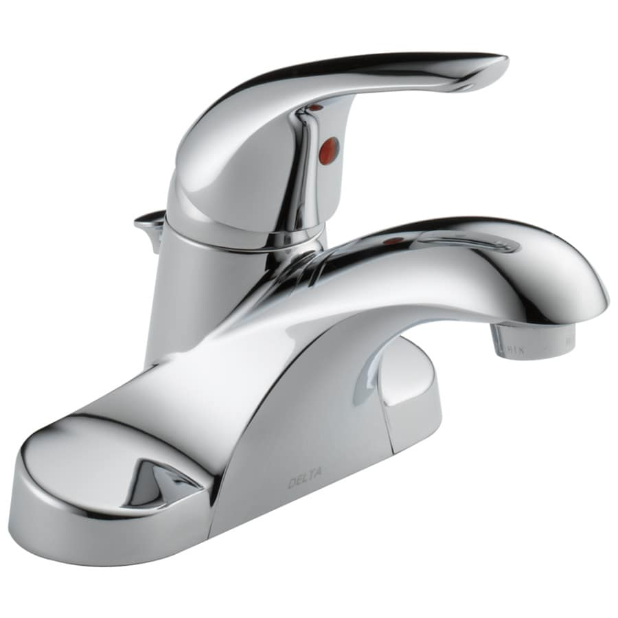 delta foundations chrome 1 handle 4 in centerset watersense bathroom sink faucet with drain