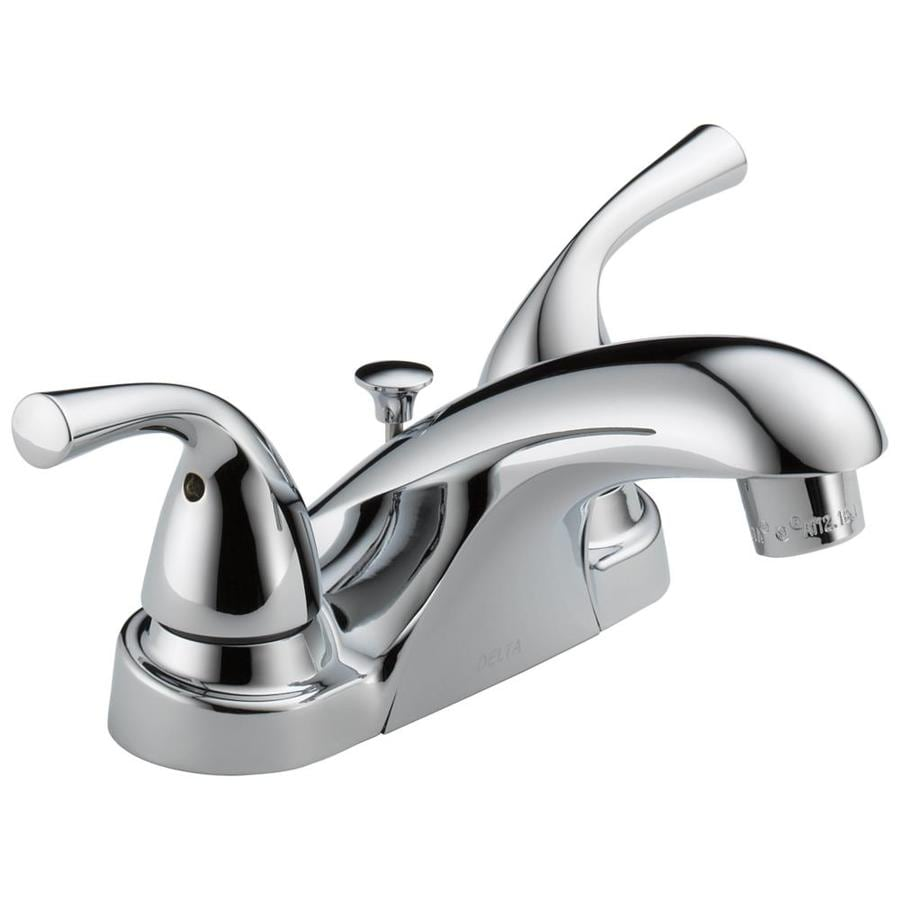 Bathroom Sink Faucets Delta Foundations Chrome 2 Handle 4 In Centerset Watersense