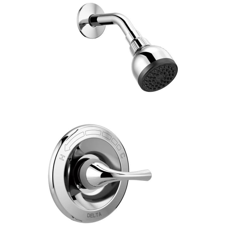 delta foundations chrome 1 handle shower faucet