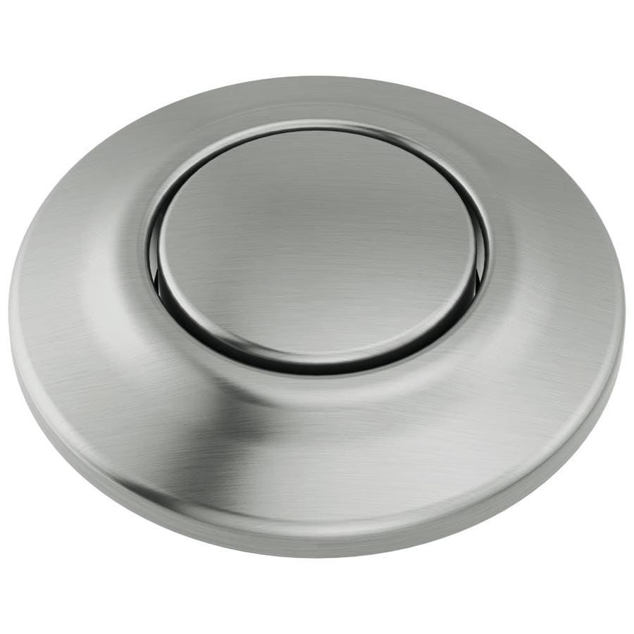 delta faucet delta 1 75 in arctic stainless plastic garbage disposal switch