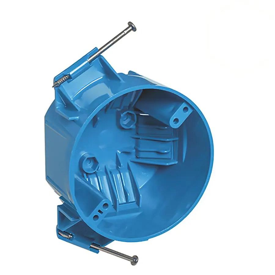 medium resolution of carlon 1 gang blue pvc interior new work standard round ceiling electrical box