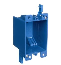 carlon 1 gang blue plastic interior old work standard switch outlet wall electrical box [ 900 x 900 Pixel ]
