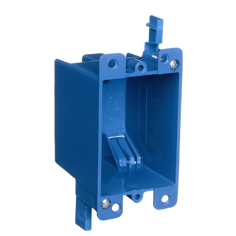 medium resolution of carlon 1 gang blue plastic interior old work standard switch outlet wall electrical box